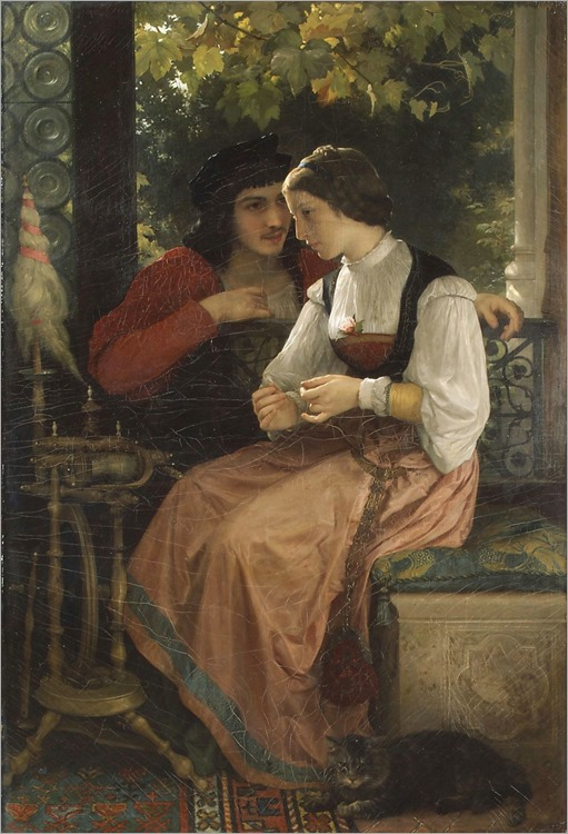 The Proposal-William Bouguereau (french, 1825–1905)