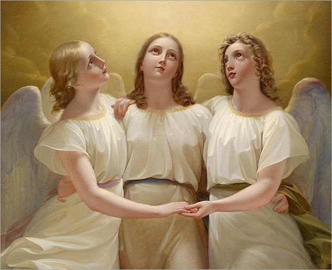 Three Angels - Franz Kadlik-1822