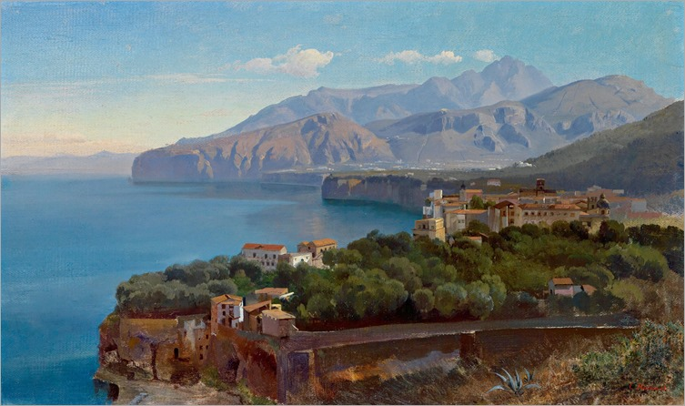 View of the Gulf of Sorrento - Carl Hummel-1907
