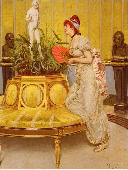 Waiting - Vittorio Reggianini (italian painter)