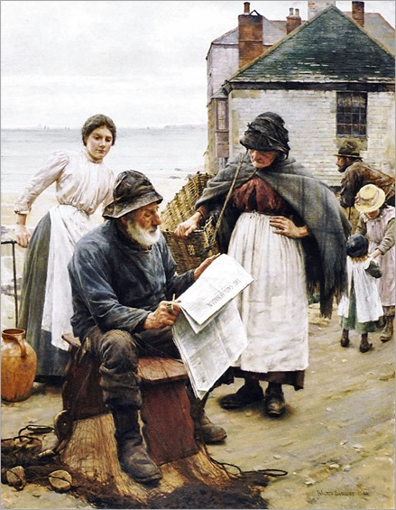 Walter Langley - When the Boats are Away