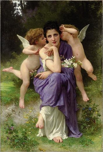 William-Adophe Bouguereau (french, 1825-1905) - Chansons de primtemps