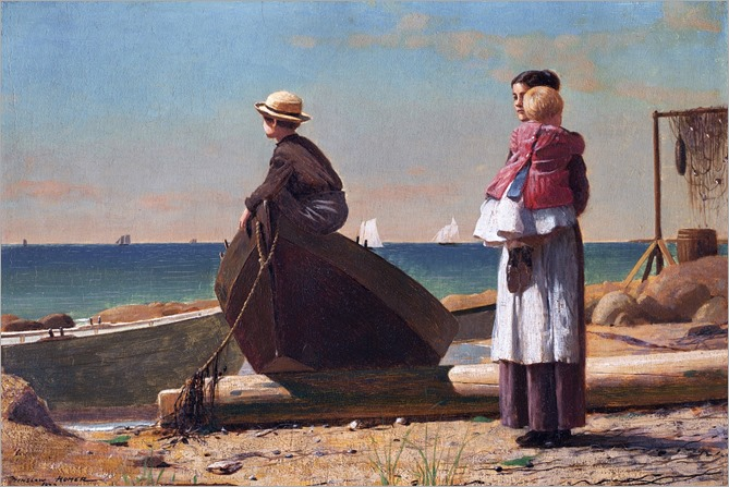 Winslow Homer - Dad's Coming