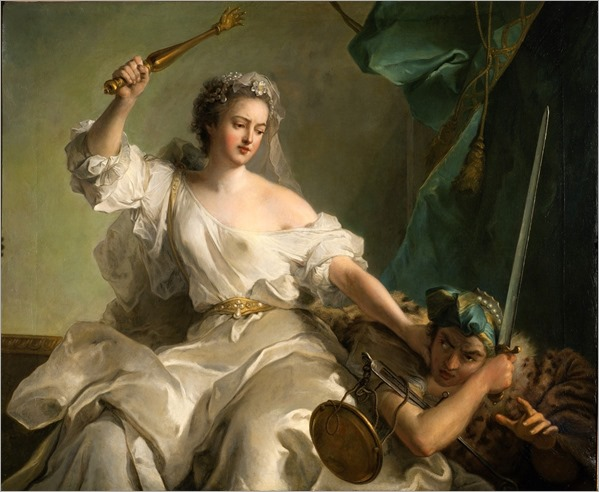 An Allegory of Justice Combatting Injustice -1737- Jean-Marc Nattier (french painter)