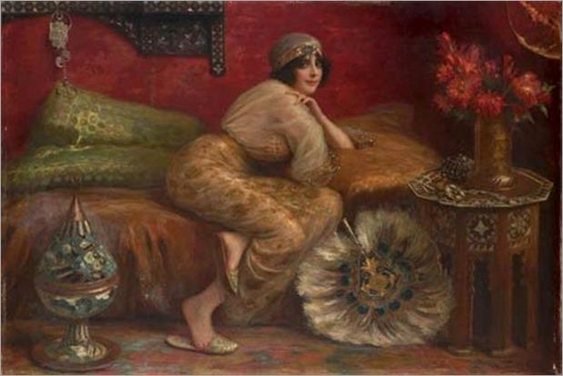 Antonio Torres Fuster (Spanish, 1874-1945) – Odalisque