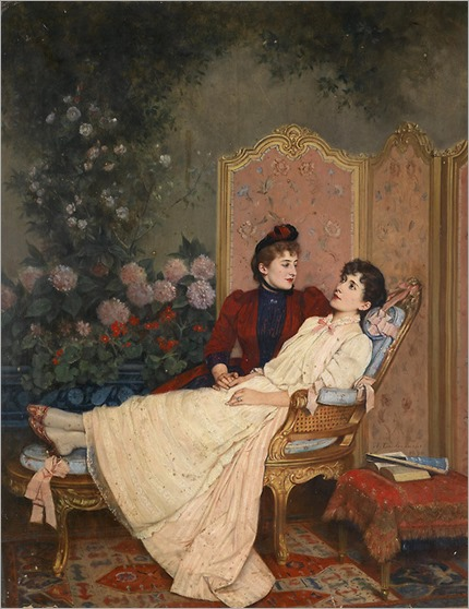 Auguste Toulmouche (1829–1890) - The daydreams