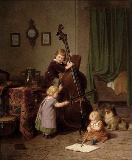 Böttcher,_Christian_Eduard_-The_Music_Lesson_-_1860