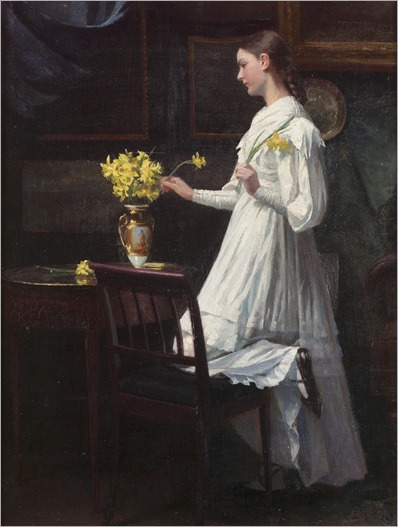 Carl Christian Frederick Jacob Thomsen-arranging daffodils