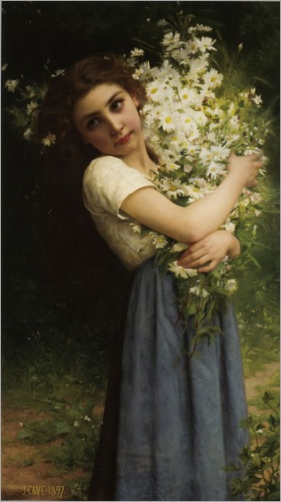Cave_Jules_Cyrille (1859-1940, french) The_Flower_girl