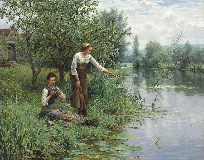 daniel_ridgway_knight_-_two_women_fishing