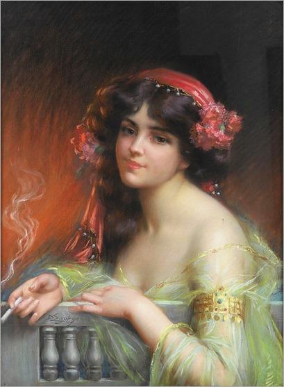 Delphin Enjolras (French, 1857-1945)_Orientale a la Cigarette