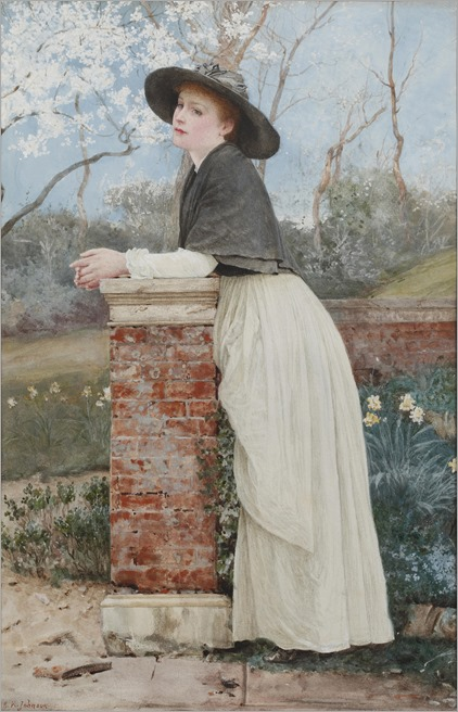 Edward Killingworth Johnson (1825-1896- English) - waiting for spring