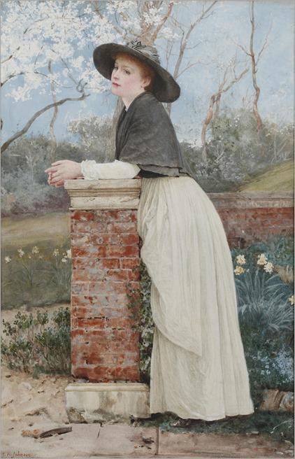 Edward Killingworth Johnson (1825-1896- English) - waiting for spring