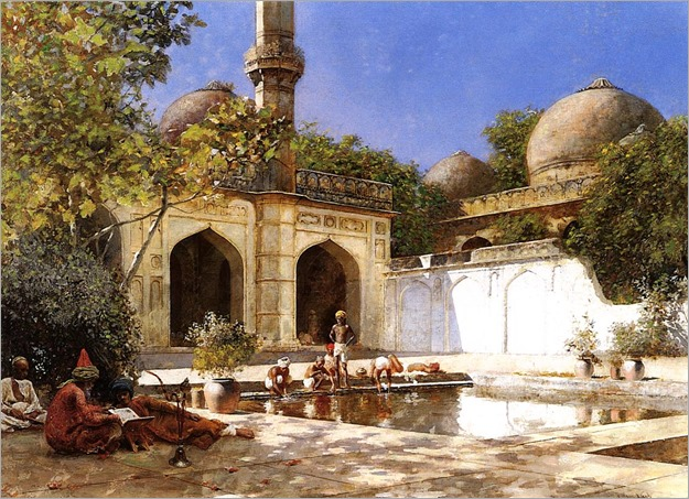 EdwinLordWeeks-figures_in_the_courtyard_of_a_mosque