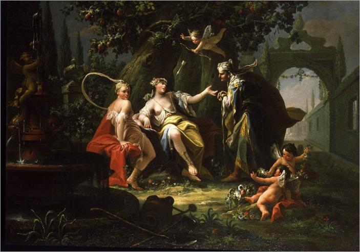 fortune teller-Giovanni Battista Crosato- Italian painter (b. ca. 1685, Treviso, d. 1758, Venezia)
