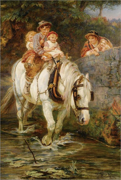 Frederick Morgan (1847-1927)-Hold tight