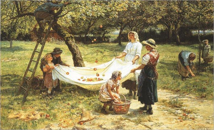 Frederick Morgan (english, 1856-1927)- An Apple Gathering