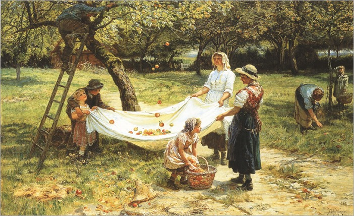 Frederick Morgan (english, 1856-1927)- An Apple Gathering