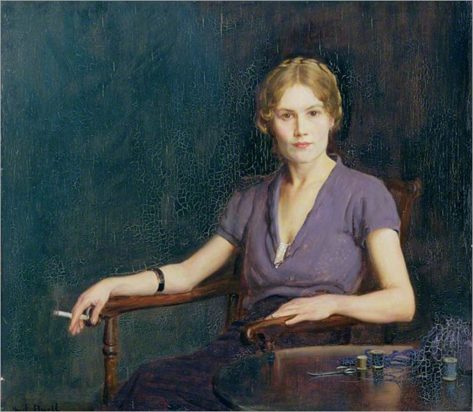 Frederick William Elwell-girl-with-a-cigarette