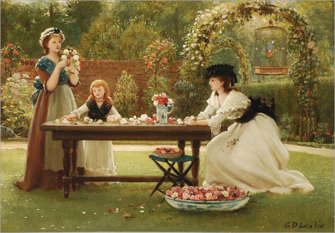George Dunlop Leslie (1835-1921). A feast of roses