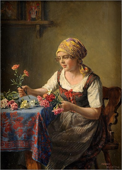 Hans Hamza -The pretty flower girl