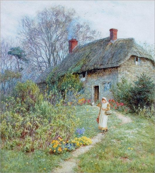 Helen Allingham - Cottage at Bothenhampton, Dorset