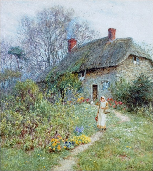 Helen Allingham - Cottage at Bothenhampton, Dorset