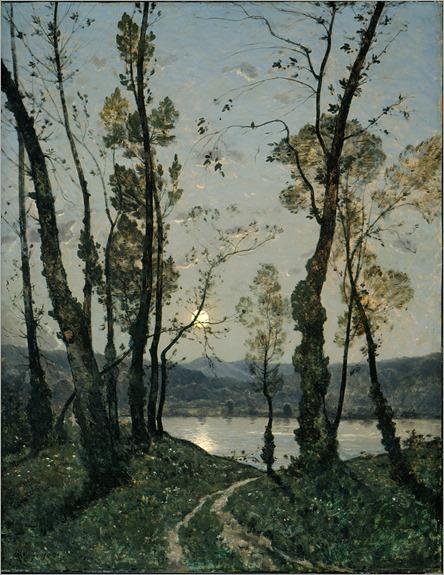 Henri-Joseph Harpignies (Fr. 1819-1916), Clair de lune