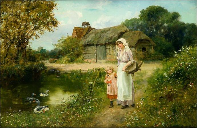 Henry John Yeend King - A Walk in the Country