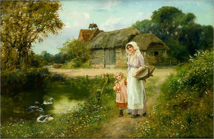 Henry John Yeend King - A Walk in the Country