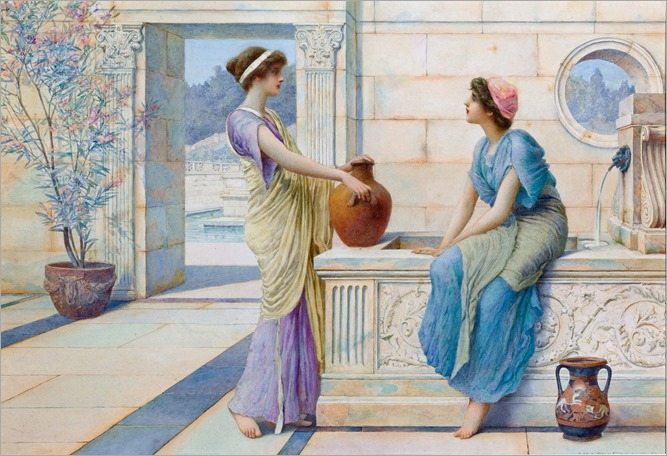 Henry Ryland - Conversation at the Well