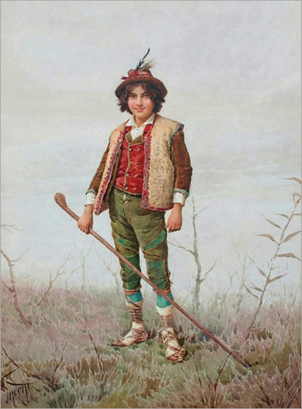 INDONI, Filippo, (1800-1884) Young Italian Peasant Boy