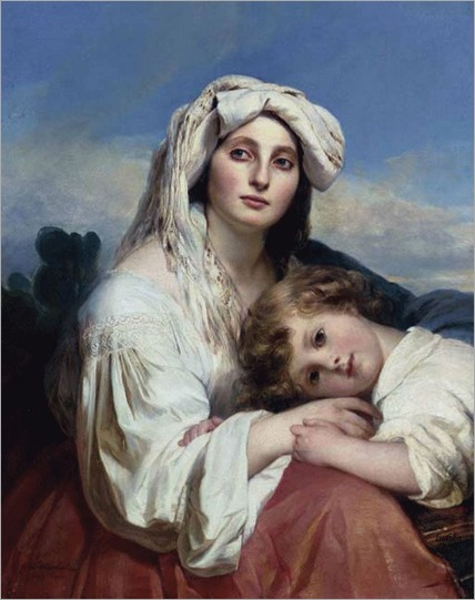 Italian Woman with Child - 1836- Franz Xaver Winterhalter (german painter)