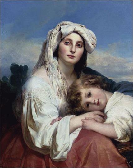 Italian Woman with Child - 1836- Franz Xaver Winterhalter (german painter)