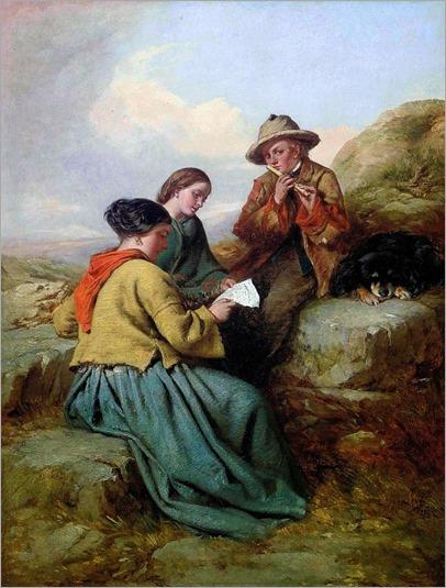 James John Hill (1811-1882)- The Music Lesson