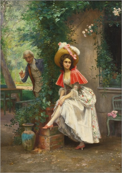 Jules Girardet (french, 1856-1938)-A finely turned Ankle
