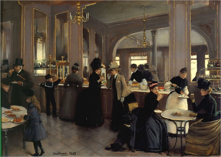 La Patisserie Gloppe aux Champs Elysees - 1889 - Jean Beraud (french painter)