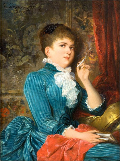 Lady with a Cigarette -1904- Carl Schweninger (austrian painter)