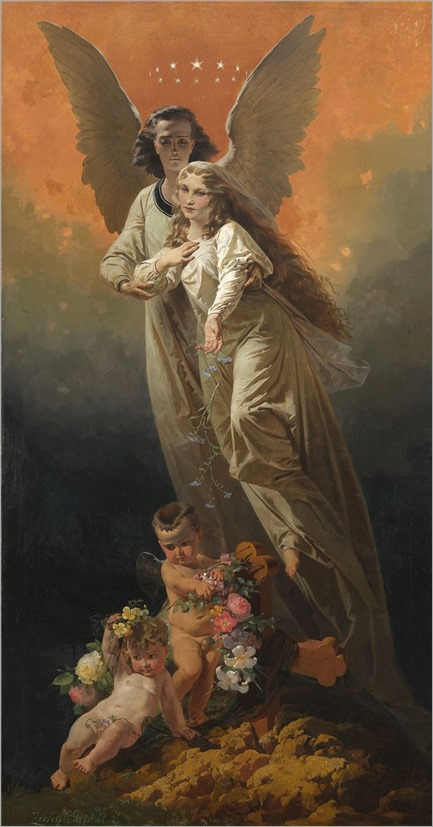 Mikhail Zichy (1827-1906) Allegorical Composition