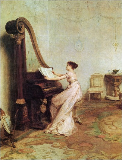 Music, when soft voices die, Vibrates in the memory (Shelly). Sir William Quiller Orchardson (Scottish, 1832-1910)