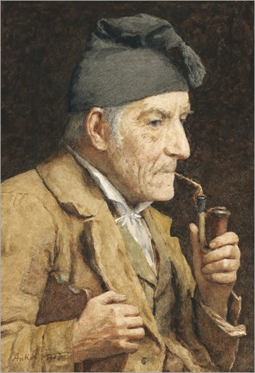 old-man-smoking-his-pipe-Albert-Anker