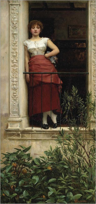 Philip Hermogenes Calderon (1833-1898)- A Rose of Provence