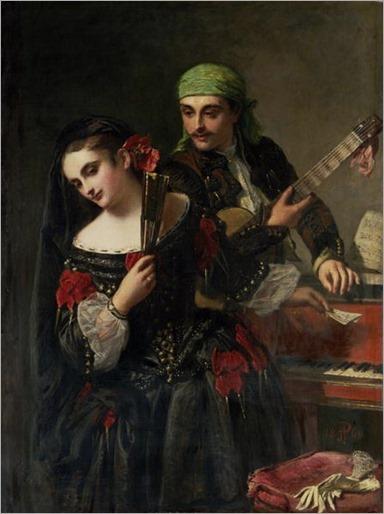 Phillip, John (1817-1867) - A Music Lesson, Seville