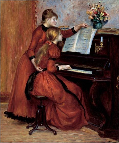 Pierre Auguste Renoir - Young Girls at the Piano (La Leçon de piano) , ca. 1889