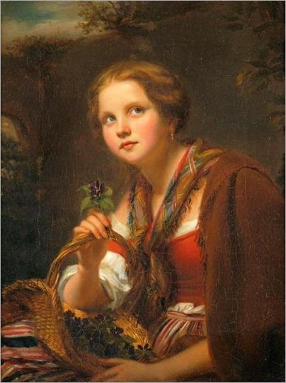 Portrait of a Young Girl - Johann Georg Meyer von Bremen