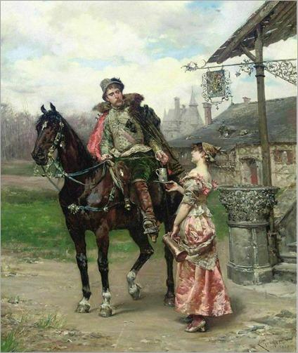 Refreshments by Ludovico Marchetti-italian-1835-1909