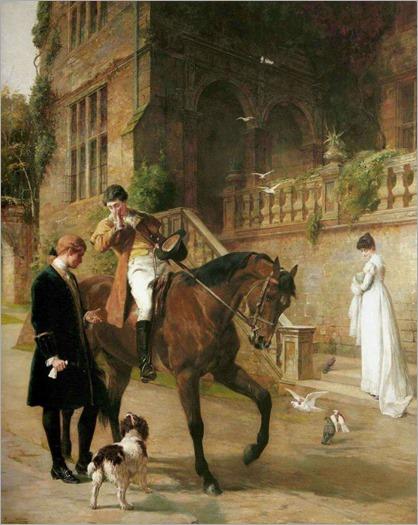 Samuel Waller (1850-1903) - The Challenge 1887