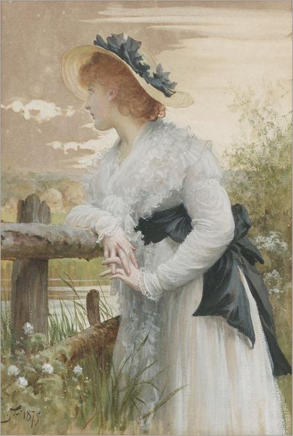 Sir Samuel Luke Fildes (1844 - 1927) - Sophia, 1875