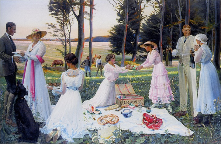 the afternoon picnic - Harald Slott-Møller - Date unknown