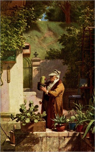 The Cactus Lover - Carl Spitzweg-1856